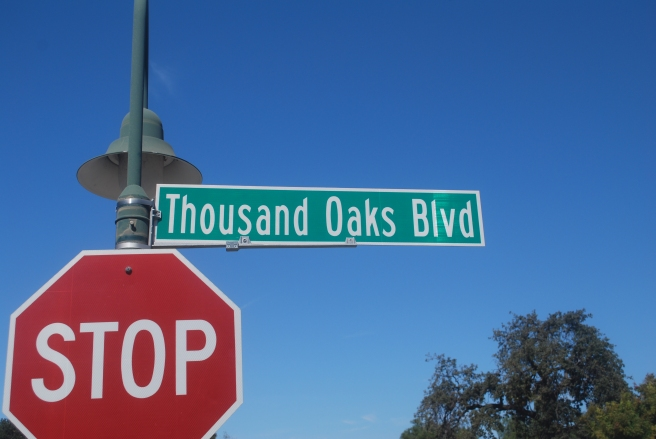Thousand Oaks Boulevard sign